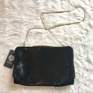 NWT Vince Camuto Ella leather clutch with strap